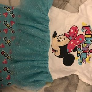 Minnie Mouse tutu and shorts outfit 24 m